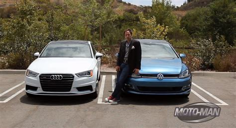 volkswagen audi 2015 audi a3 vs 2015 volkswagen golf what s the