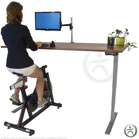 Uplift Height Adjustable Bike Desk Shop Uplift Bike Desks Exercise Bike Computer Desk