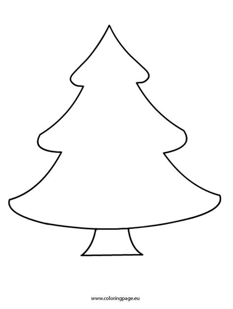 blank christmas tree coloring page part 4 free