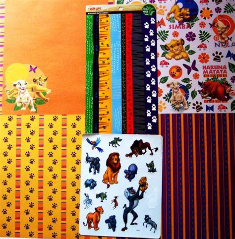 Paper Crafts And Scrapbooking - free disney the king scrapbook papers stickers kit