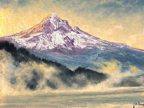 painting montana view of mt painting by jim gola