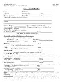 field trip form template field trip forms