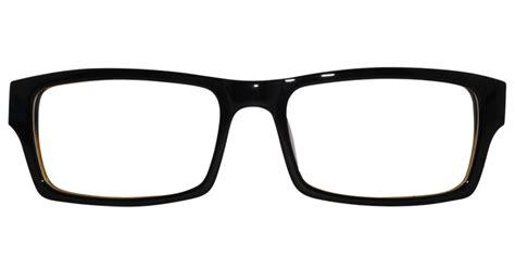 thick rectangular frame mens glasses in black