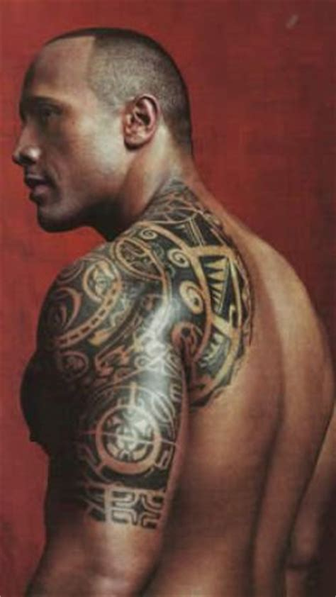 dwayne johnson brust tattoo tatouage maori tattoos fr
