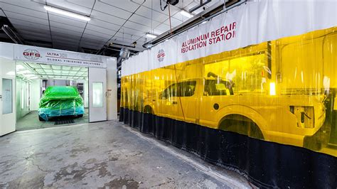 aluminium repair booth automotive paint booth from global finishing solutions