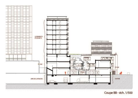 section 52 planning gallery of school group and student housing atelier