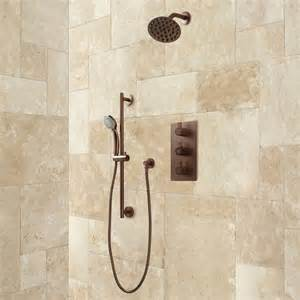 Bath Handheld Shower Isola Thermostatic Shower System With Wall Shower Hand
