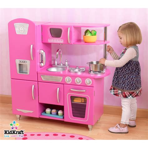 Kidkraft Vintage Kitchen Pink by Kidkraft Vintage Bubblegum Pink Retro Pretend Play