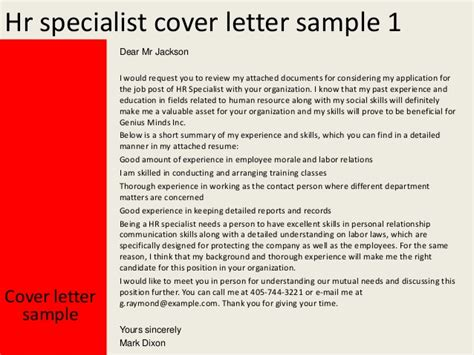 Powerpoint Presentation Specialist Cover Letter by Hr Specialist Cover Letter