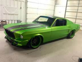 Green Ford 1967 Snakeskin Green Ford Mustang Restomod Powered By