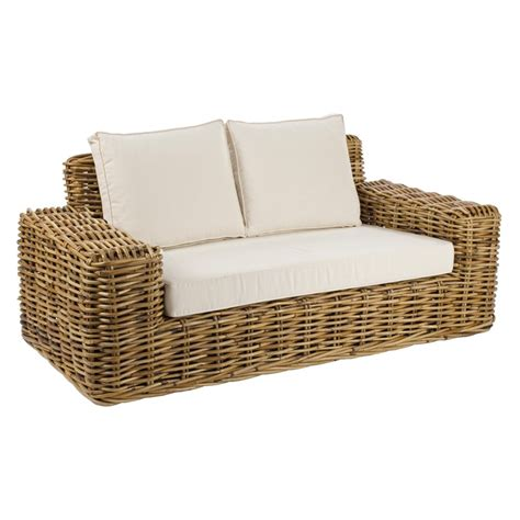 divani rattan divano 2p rattan intrecciato etnico outlet mobili etnici