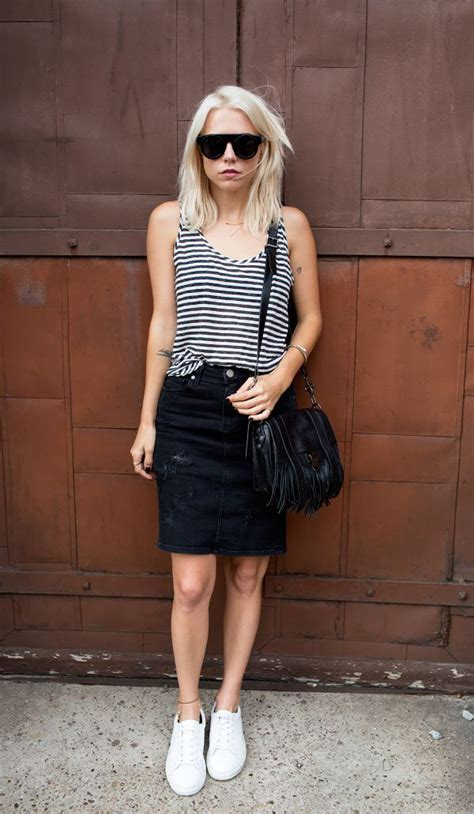20 style tips on how to wear denim mini skirts gurl