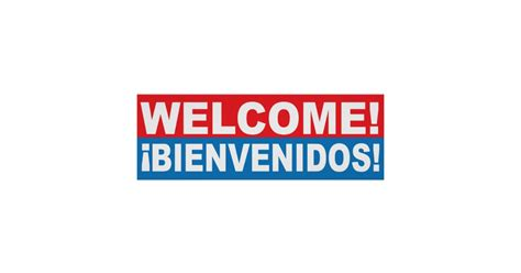 welcome to e r i c c o m welcome bienvenidos english spanish banner poster zazzle