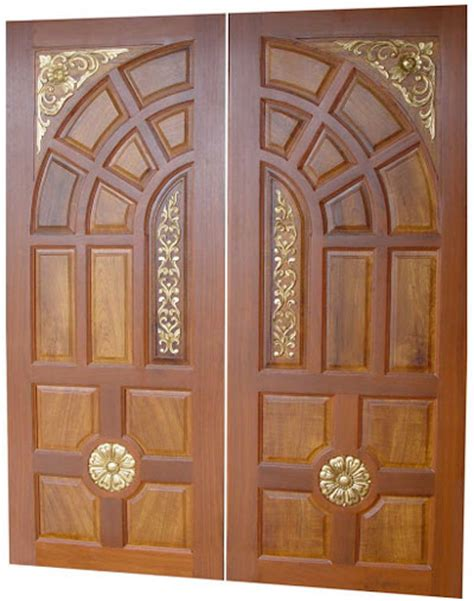 Door Wooden Design by New Kerala Model Wooden Front Door Door Designs