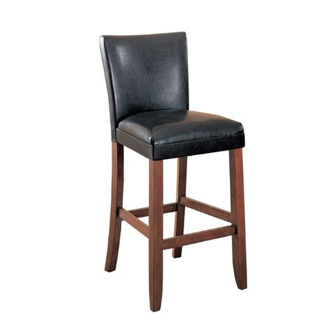 coaster leather look bar chair coaster telegraph 29 quot bar stool with brown faux leather