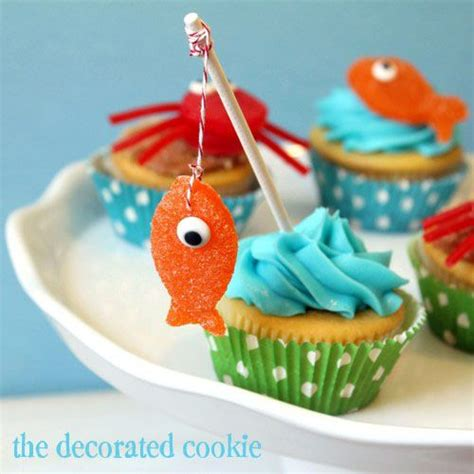 cupcake themed decorations best 25 fishing cupcakes ideas on fish
