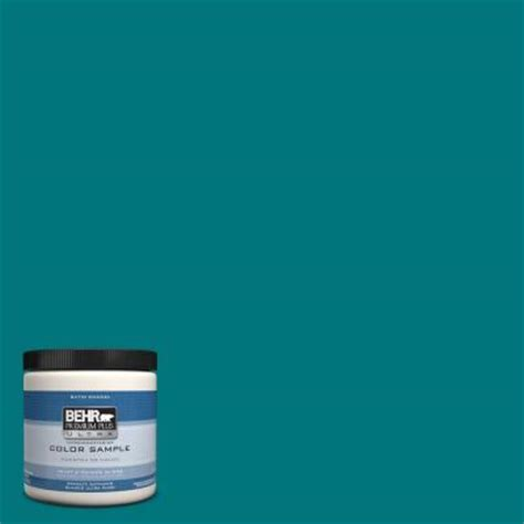 behr premium plus ultra 8 oz t15 3 essential teal interior exterior satin enamel paint sle