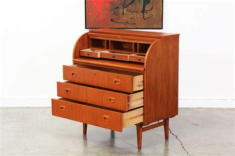 teak roll top desk danish modern teak roll top secretary desk vintage