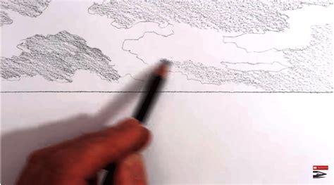 tutorial menggambar pemandangan cara menggambar pemandangan pantai dengan pensil