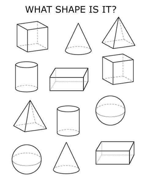 shapes worksheets kindergarten pdf 3d shapes homeschooling pinterest 3d shapes