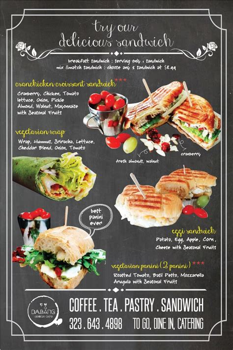 design cafe dabang sandwich menu everything so good wrap panini for