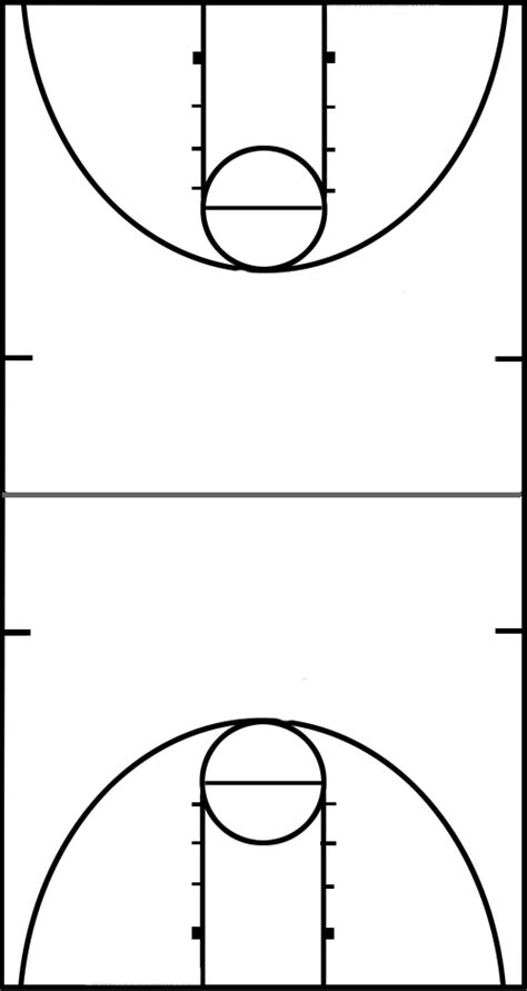 blank basketball court diagram full court basketball diagram