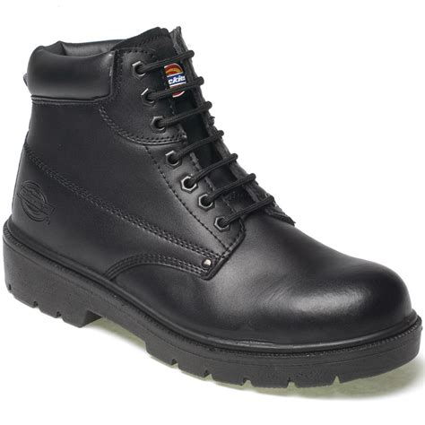 mens black cap toe boots mens dickies antrim safety work boots size uk 4 13 steel