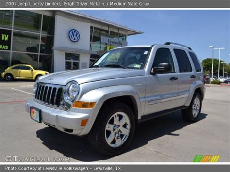 silver jeep liberty 2007 bright silver metallic 2007 jeep liberty limited