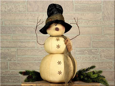 primitive country snowman tree topper snowman dolls primitive home decors
