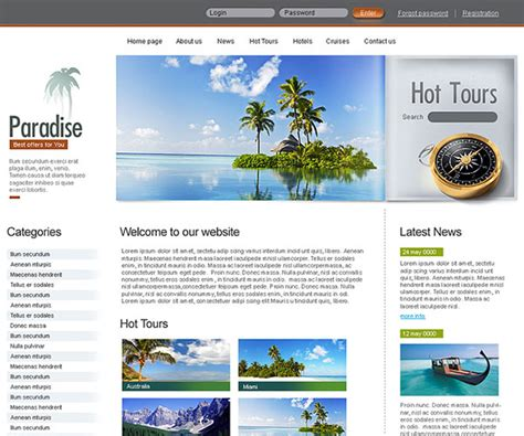 web design indonesia tutorial 10 template html gratis untuk website tour travel