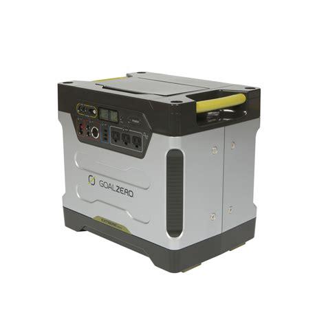 shop goal zero yeti 1250 watt hour solar home generator at