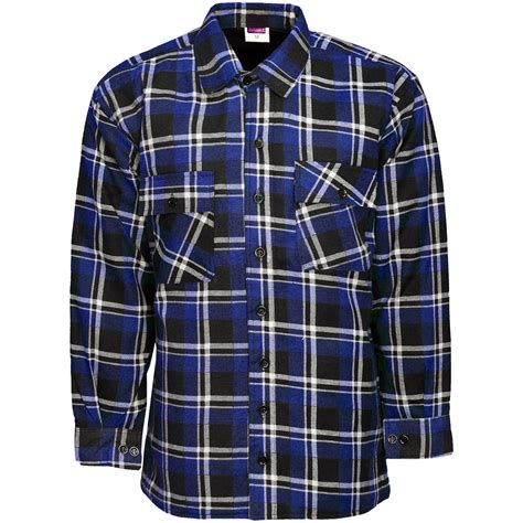 Quilted Work Shirts by Mens Thick Padded Quilted Check Lumberjack Shirt Warm