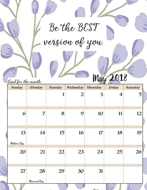 printable calendar with inspirational quotes free printable 2018 monthly motivational calendars