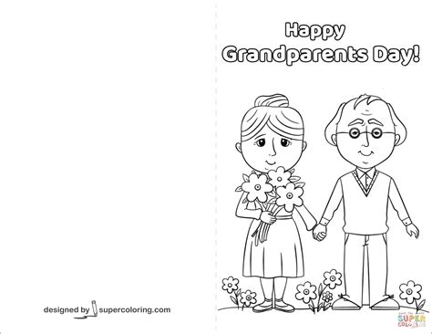 grandparents card template happy grandparents day card coloring page free printable
