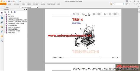 takeuchi tl150 wiring diagram takeuchi tb175 wiring