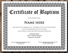 water baptism certificate template baptism certificate 11 free sles exles format