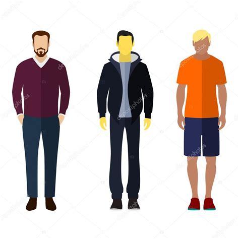 imagenes vectoriales personas conjunto de figuras de hombre estilo plano iconos personas