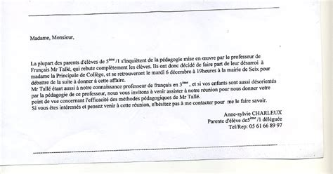 Modele De Lettre Pour Absence Ecole exemple de lettre d excuse pour absence a l ecole