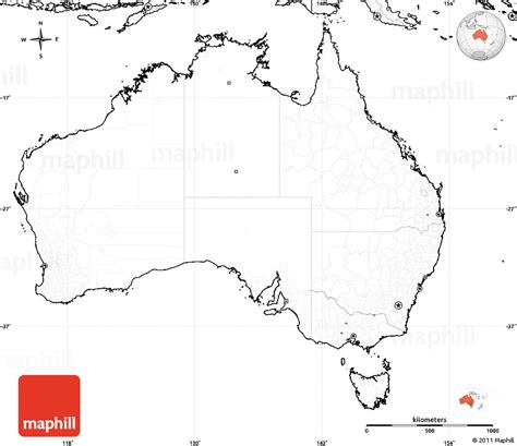 empty map of australia blank map physical oceania