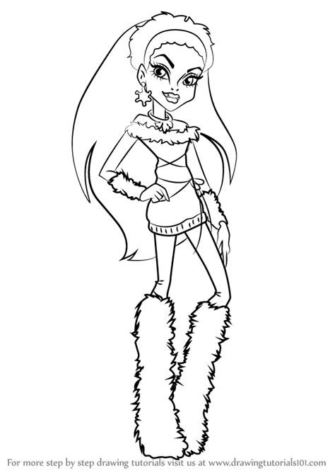 easy monster high coloring pages learn how to draw abbey bominable from monster high