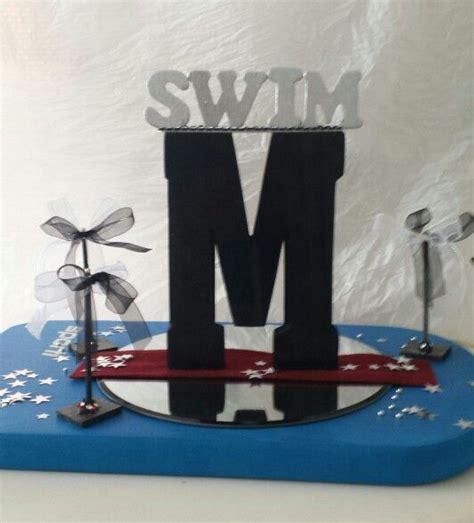 swim banquet centerpiece  picture holders swim