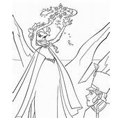 Frozen Elsa Freezing Coloring Page