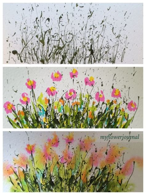 acrylic painting step by step tutorial a summer activity my flower journal