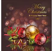 Merry Christmas Card Vector 1  Sources