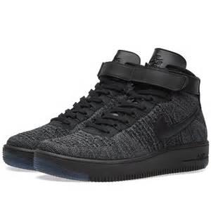 Nike air force 1 flyknit dark grey amp black