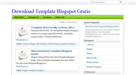 download template simple seo friendly terbaru 2013 all