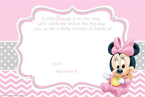 minnie mouse baby shower invitations templates free printable minnie mouse baby shower invitation baby