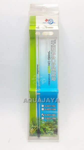 Termometer Aquascape aquaworld hang on thermometer 18cm aquajaya