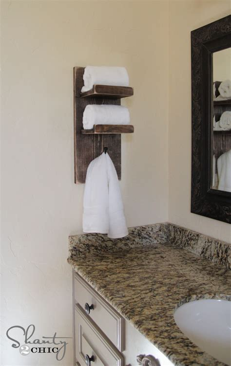 towel hooks for bathrooms super cute diy towel holder shanty 2 chic