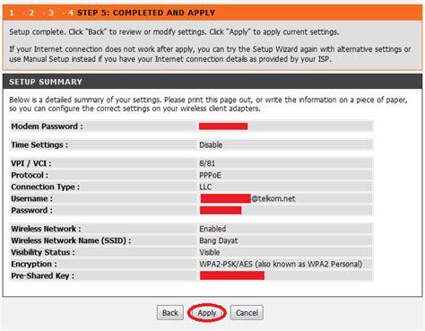 Modem Speedy Buat cara setting speedy modem adsl d link dsl 2730u